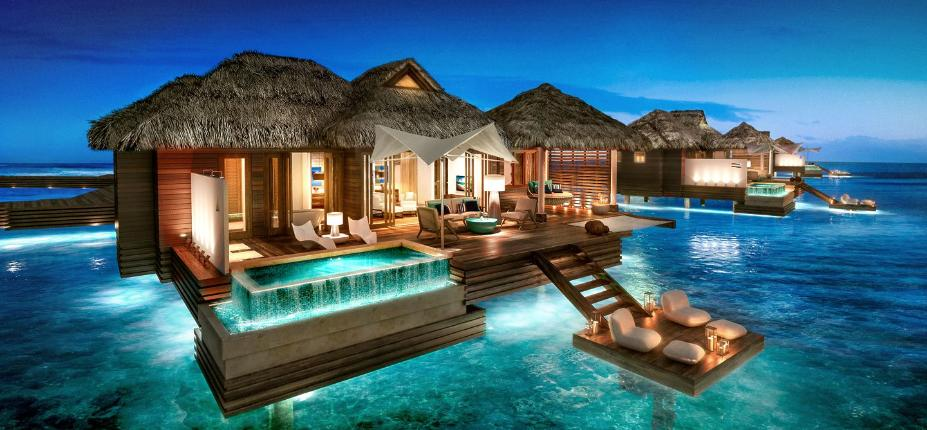 Underwater Hotels Rooms - These amazing floating villas have underwater bedrooms